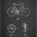 Bicycle Gear Patent Drawing From 1922 - Dark by Aged Pixel