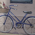 Bicycle Leaning On A Wall by Michael French
