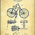 Bicycle Patent Drawing From 1891 - Vintage by Aged Pixel