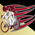 Bicycle Rider 01 by Carlos Diaz