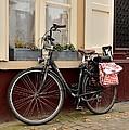 Bicycle With Baby Seat At Doorway Bruges Belgium by Imran Ahmed