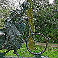 Bicyclist Sculpture In The Park In Leeuwarden-netherlands by Ruth Hager