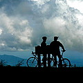Bicyclists In The Clouds by Jean Wright