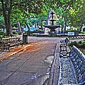 Bienville Square And The Bench 2 by Michael Thomas