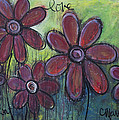 Big And Bright Daisies by Laurie Maves ART