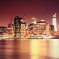 Big Apple - Night Skyline - New York City by Vivienne Gucwa