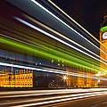 Big Ben And Bus Blur by Adam Pender