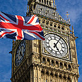 Big Ben And Union Jack by Neven Milinkovic