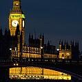 Big Ben At Night by Charles Bowman