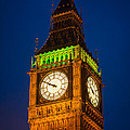 Big Ben At Night by Inge Johnsson