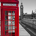Big Ben Red Telephone Box by David French