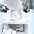 Big Bird Snow Sculpture by Kay Novy