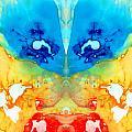 Big Blue Love - Visionary Art By Sharon Cummings by Sharon Cummings