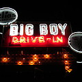 Big Boy Drive-in At Night by Guy Ricketts