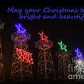 Big Bright Christmas Greeting  by Kathy  White