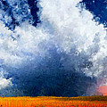 Big Cloud In A Field by Bruce Nutting