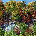 Big Hill Cliffs In Autumn by George Ferrell