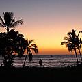 Big Island Hawaii Kona Red Sky by Joseph Semary