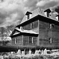 Big Otter Mill Ca 1785 Bw by Steve Hurt