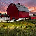 Big Red At Sunset by Debra and Dave Vanderlaan