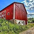 Big Red Barn by Adam Jewell