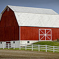 Big Red Barn In West Michigan by Randall Nyhof