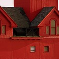 Big Red Holland Harbor Light Michigan by Michelle Calkins