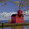 Big Red Lighthouse By Holland Michigan No.0255 by Randall Nyhof