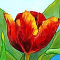 Big Red Tulip by Jim Harris