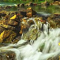Big River  Waterfall And Dam by Peggy Franz
