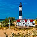 Big Sable Light On The Shore by Nick Zelinsky