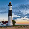 Big Sable Point Lighthouse Sunset by Sebastian Musial