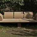 Big Stone Bench Inside The Garden Of 5 Senses by Ashish Agarwal