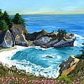 Big Sur Waterfall by Alice Leggett