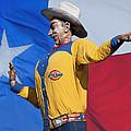 Big Tex And The Lone Star Flag by David and Carol Kelly