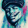 Biggie Smalls Modern Art Drawing Poster by Kim Wang