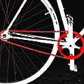Bike In Black White And Red No 2 by Ben and Raisa Gertsberg