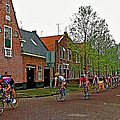 Bike Race On Orange Day In Enkhuizen-netherlands by Ruth Hager