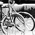Bike Under Snow by Jean Schweitzer