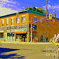 Biking By The Bakery On Bank The Glebe Nicastro Foods And David's Tea Ottawa Streetscene Cspandau    by Carole Spandau