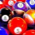 Billiard Balls On The Table by Dan Sproul