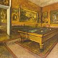 Billiard Room At Menil-hubert by Edgar Degas