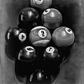 Billiards Art - Your Break - Bw  by Lesa Fine