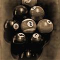 Billiards Art - Your Break - Bw Opal by Lesa Fine