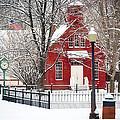 Billie Creek Village Winter Scene by Virginia Folkman