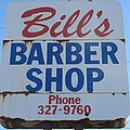 Bill's Barber Shop by Donna Wilson