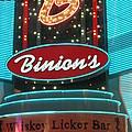 Binions Whiskey Licker Bar by Kay Novy