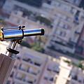 Binoculars View Of City by Ioan Panaite