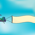 Biplane Aircraft Pulling Advertisement by Milat oo