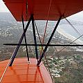Biplane Over San Diego by Phyllis Spoor